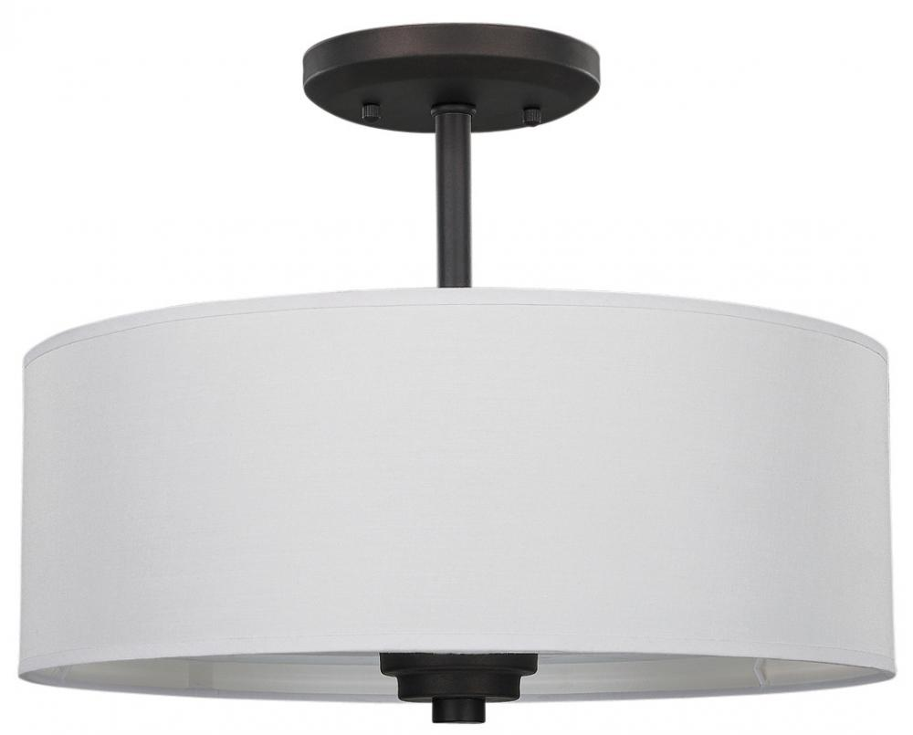 drum shade semi flush mount isf280a03orb unique lighting. Black Bedroom Furniture Sets. Home Design Ideas