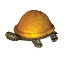 "Meyda Tiffany 18004 - 4""High Amber Mottled Turtle Accent Lamp"