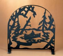 "Meyda Tiffany 22387 - 30""W X 30""H Canoe At Lake Arched Fireplace Screen"