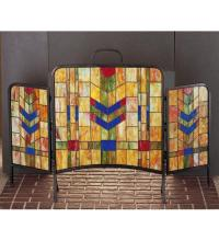 "Meyda Tiffany 27241 - 48""W X 31""H Prairie Wheat Fireplace Screen"