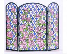 "Meyda Tiffany 35745 - 40""W X 34""H Rose Trellis Fireplace Screen"